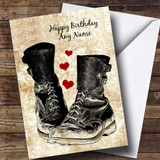 Military Boots & Hearts Customised Birthday Card