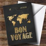Customised Bon Voyage Journey World Plane Bon Voyage Travel Card