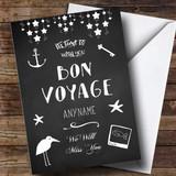 Customised Bon Voyage Chalk Pictures Bon Voyage Travel Card