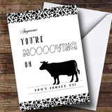 Customised Silly Funny Moving On Cow Bon Voyage Travel Card
