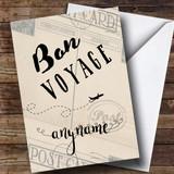 Customised Bon Voyage Plane Classic Bon Voyage Travel Card