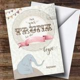 Customised Elephant Pack Trunk Bon Voyage Travel Card