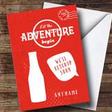 Customised Funny Ketchup Soon Bon Voyage Travel Card