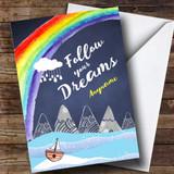 Customised Dreaming Mountain Bon Voyage Travel Card