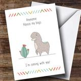 Customised Funny Alpaca Bags Bon Voyage Travel Card