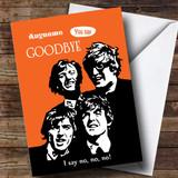 Customised Goodbye Beatles Bon Voyage Travel Card