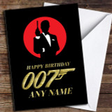 James Bond 007 Gold Customised Birthday Card