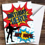 Birthday Hero Superhero Comic Customised Birthday Card