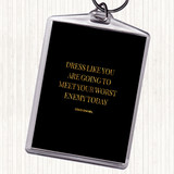 Black Gold Coco Chanel Worst Enemy Quote Keyring