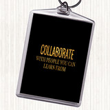 Black Gold Collaborate Quote Keyring