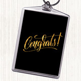 Black Gold Congrats Quote Keyring