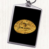 Black Gold Conquer From Within Quote Keyring