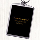 Black Gold All The Noise Quote Keyring