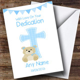 Boys Dedication Blue Cross Customised Dedication Card