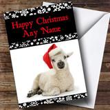 Cute Lamb Christmas Card Customised