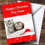 Cute Kittens Christmas Card Customised