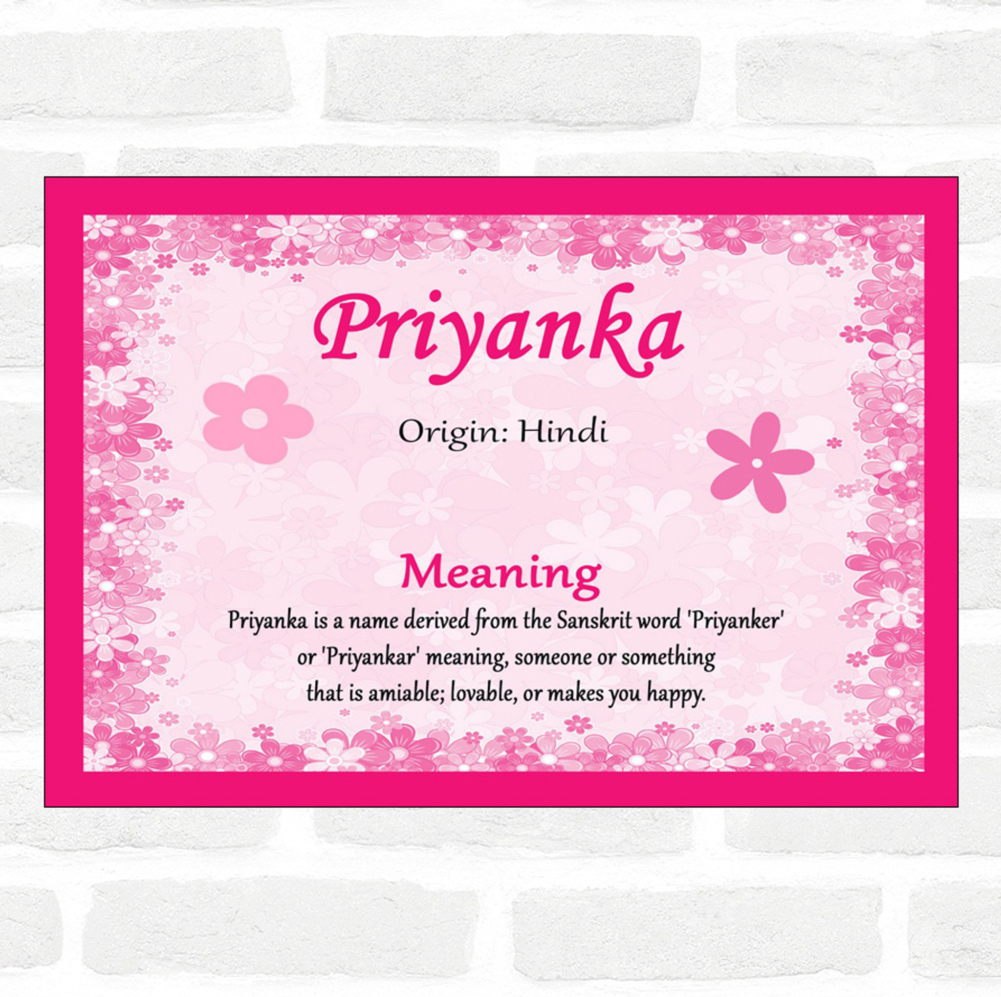 Priyanka Name Meaning Pink Certificate Party Animal Print The lower caste community has a young woman named priyanka, who would like to reform and build relationship with both the communities. priyanka name meaning pink certificate
