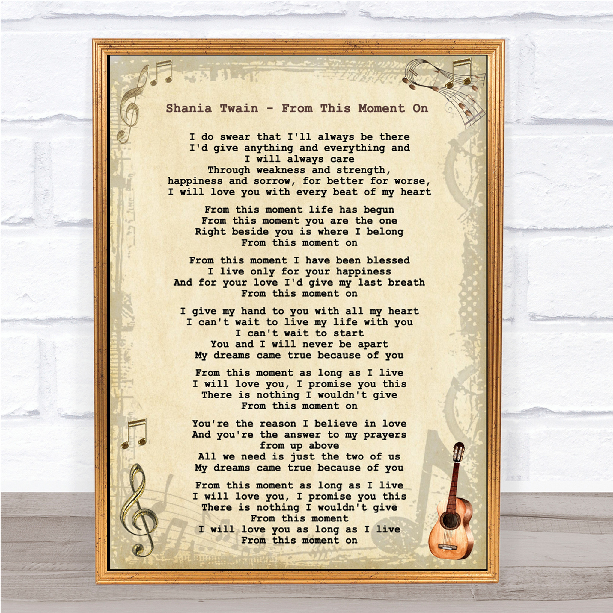 Shania Twain Man I Feel Like A Woman Grey Heart Song Lyric Quote Print