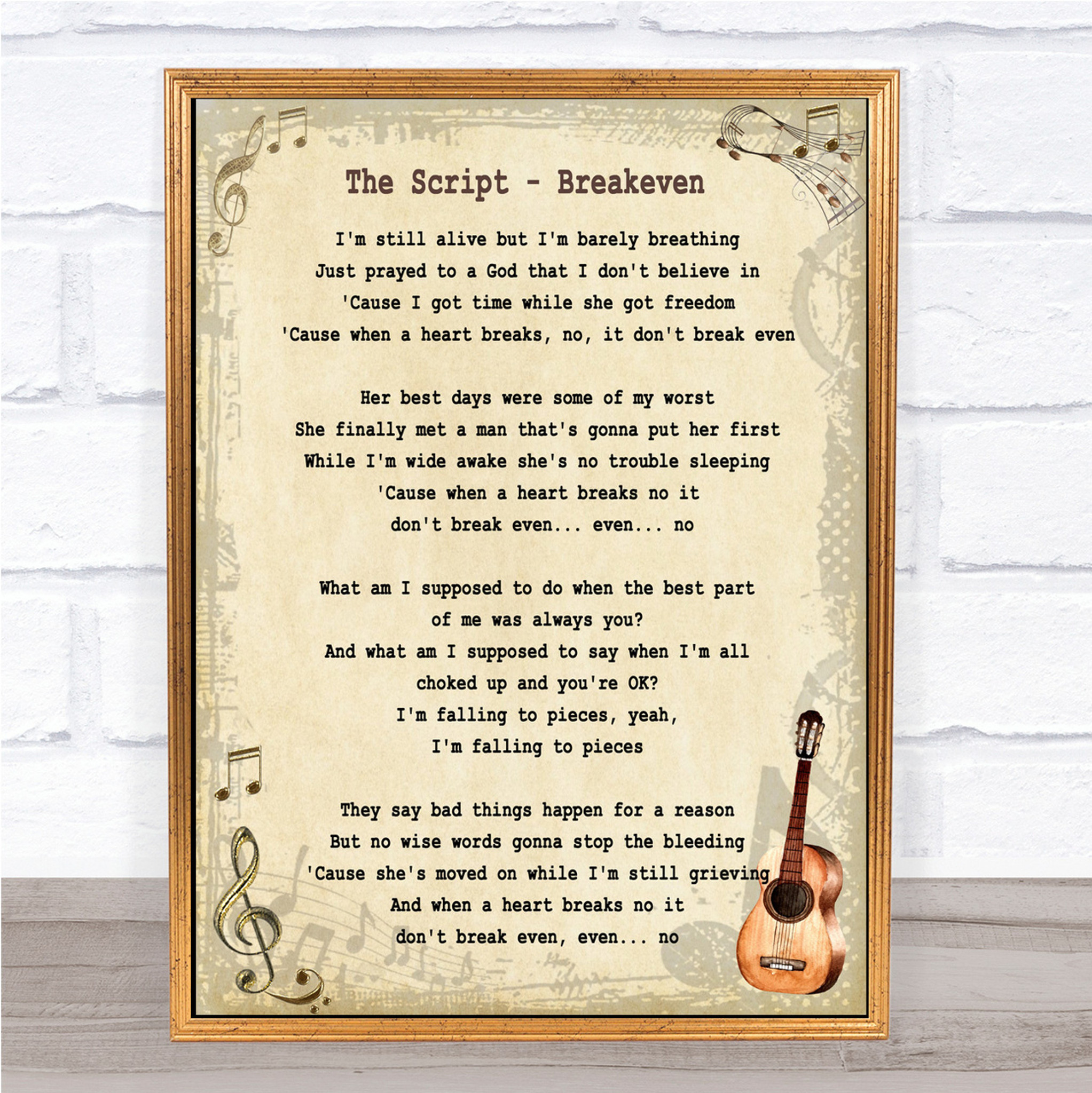 You Are The Reason Heart Song Lyric Quote Print