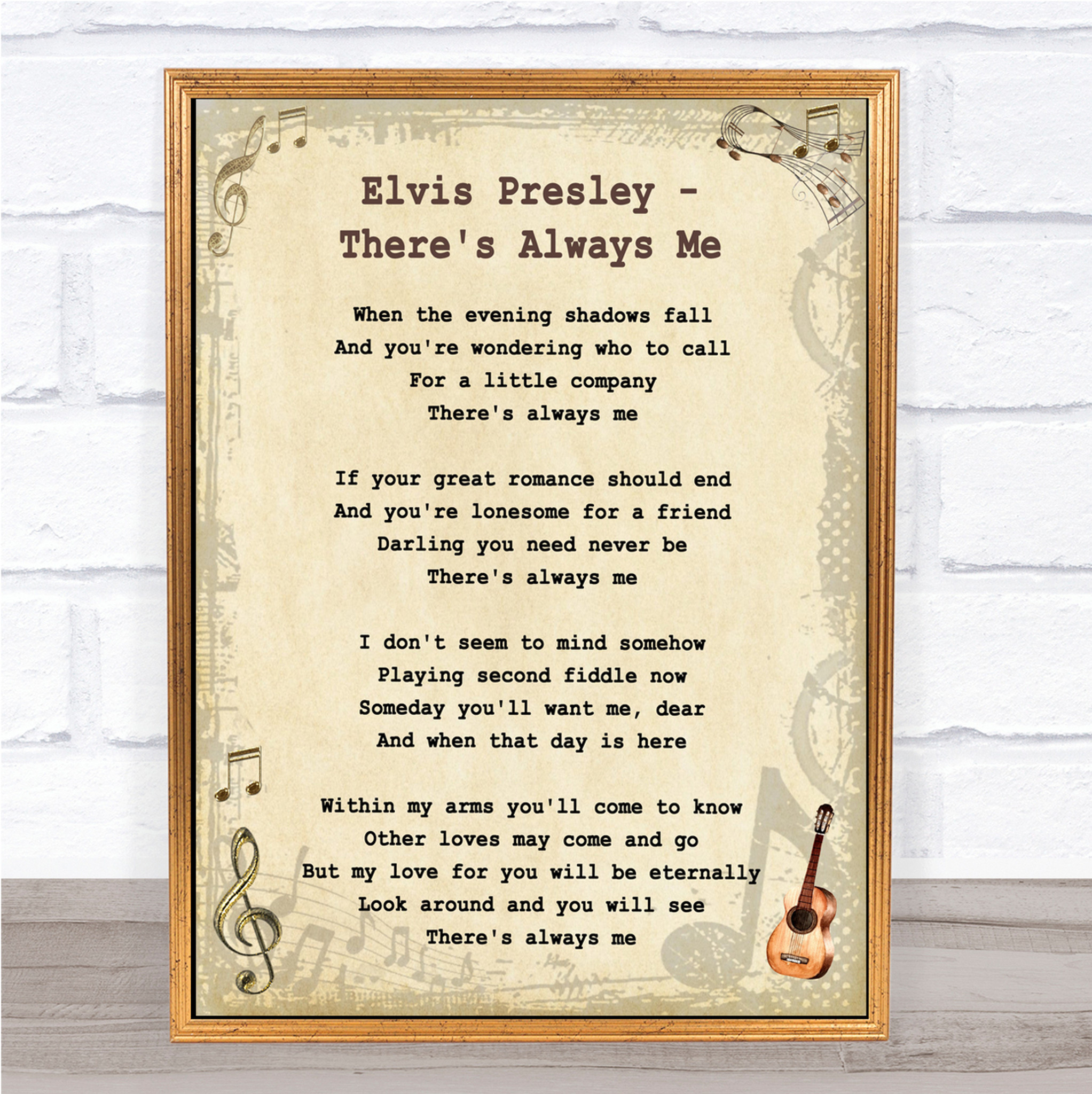 Never My Love Rustic Script Song Lyric Quote Print