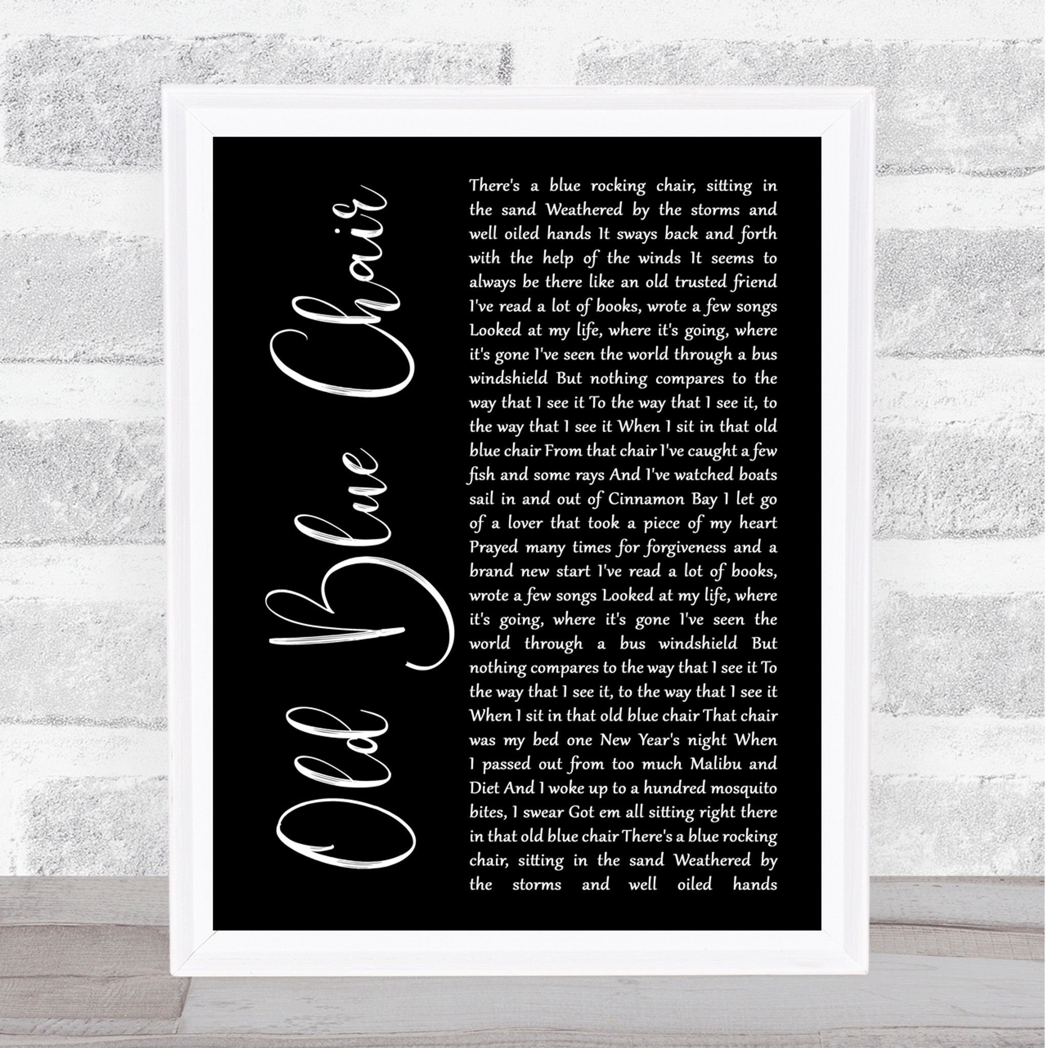 All Of Me Rustic Script Song Lyric Quote Print