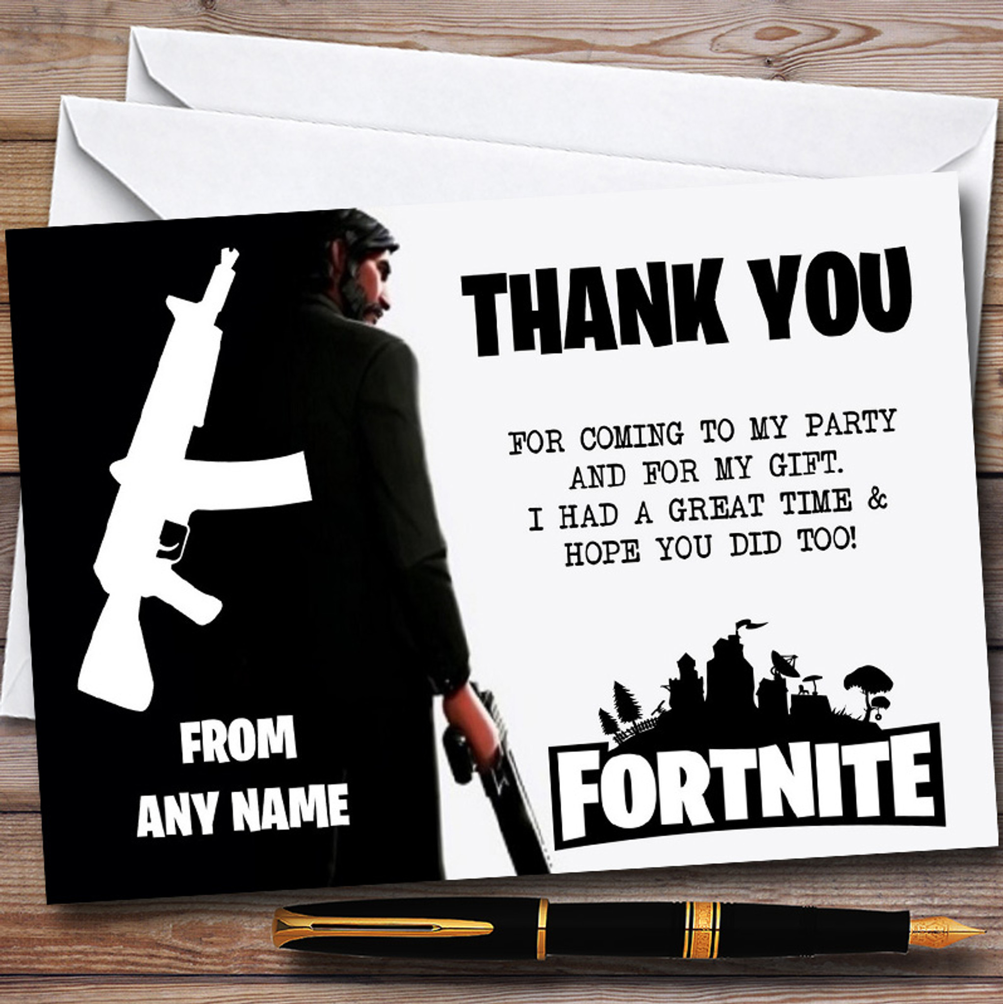 Fortnite Birthday Poster Personalised Game Fortnite Birthday Bunting Banner Black And White