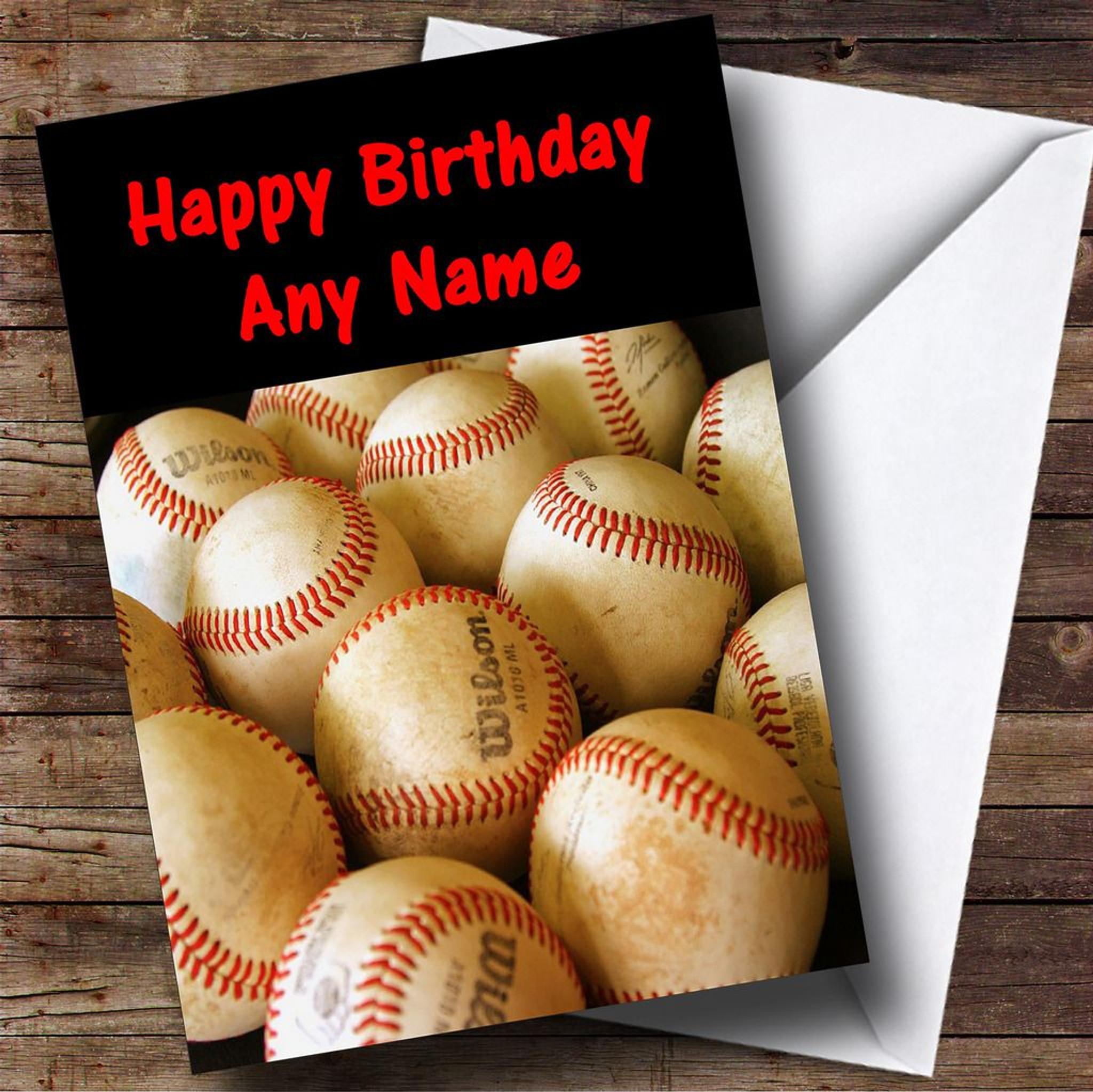Baseball Customised Birthday Card