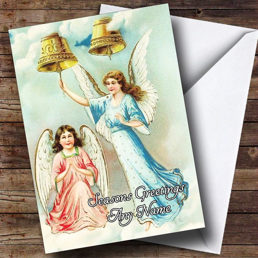 Angels Vintage Traditional Customised Christmas Card