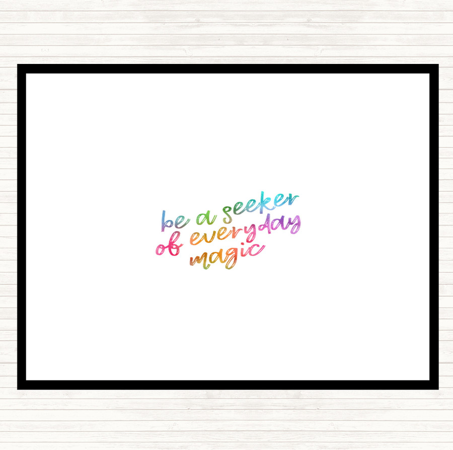 Be A Seeker Rainbow Quote Mouse Mat