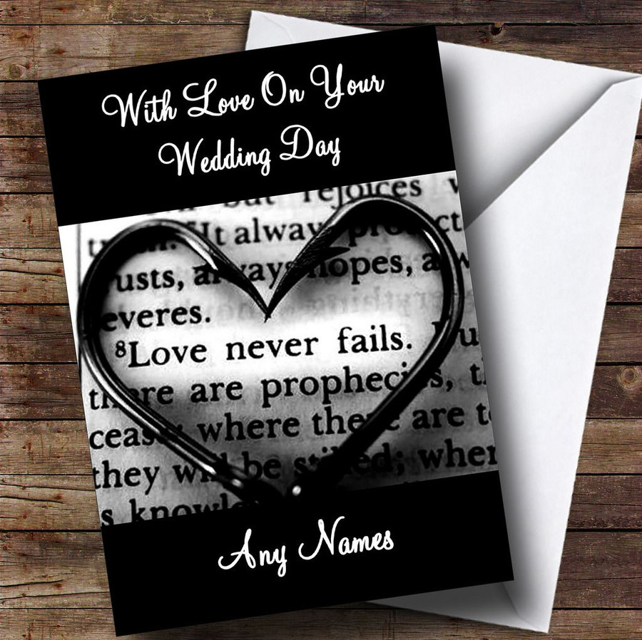Love Script Customised Wedding Day Card