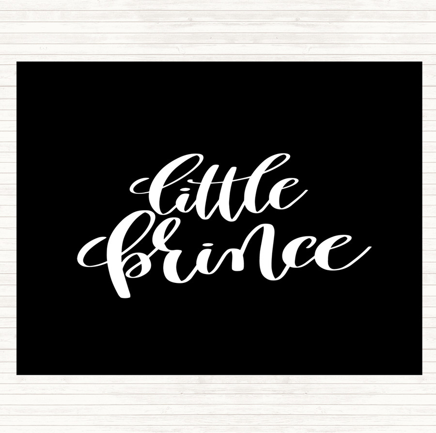 Black White Little Prince Quote Mouse Mat