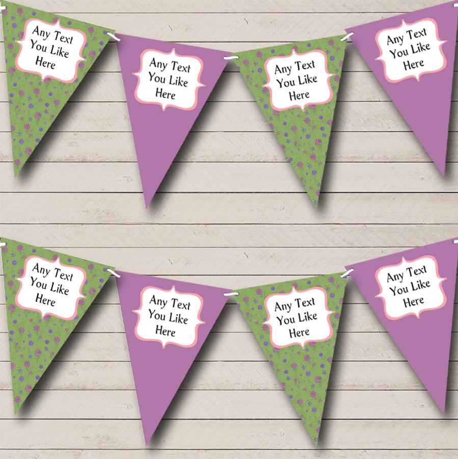 Green Purple Carnival Fete Street Party Bunting