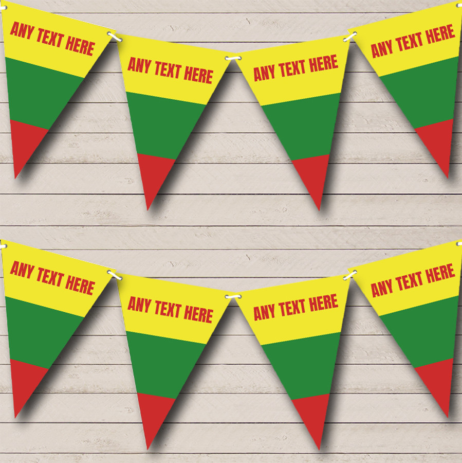 Lithuanian Flag Lithuania Carnival, Fete & Street Party Bunting