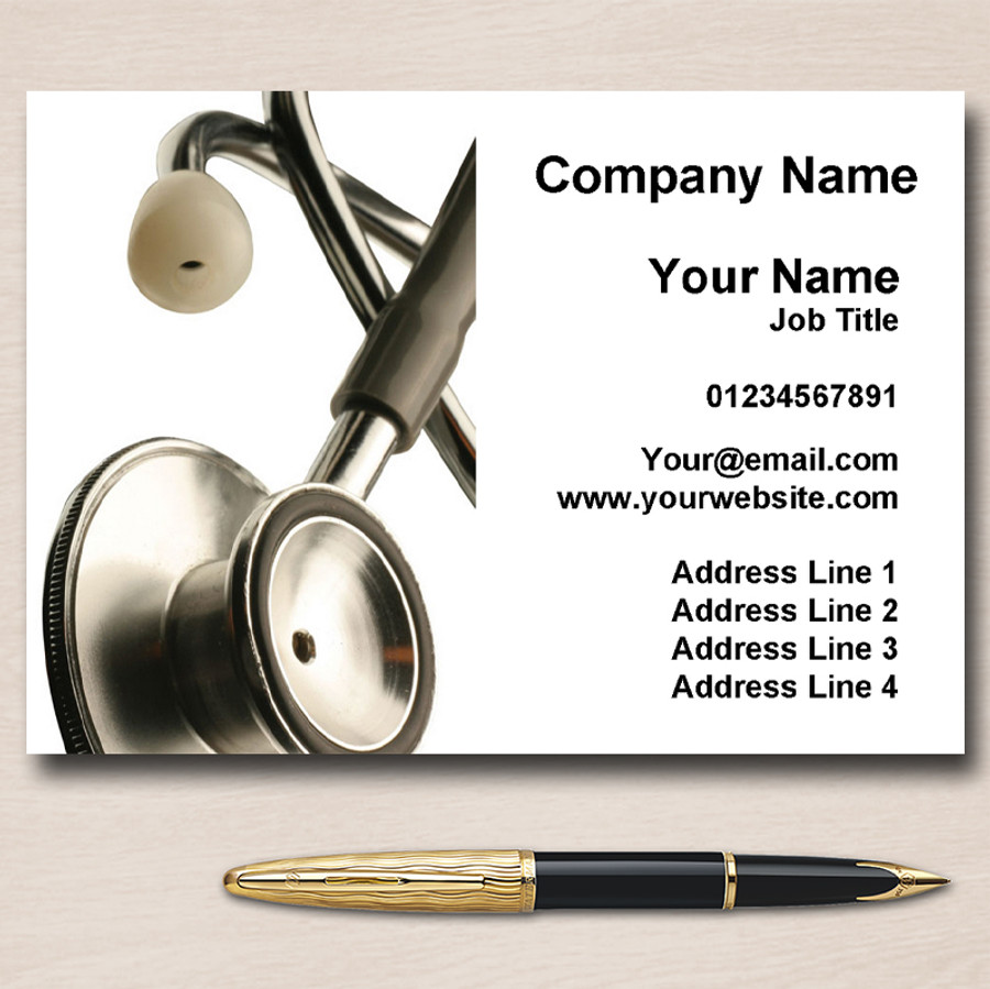 Medical Doctor Nurse Surgery Personalised Business Cards