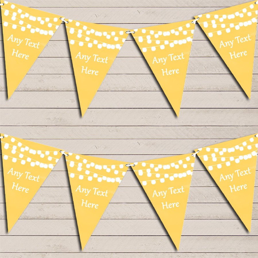 Yellow Watercolour Lights Engagement Bunting Garland Party Banner