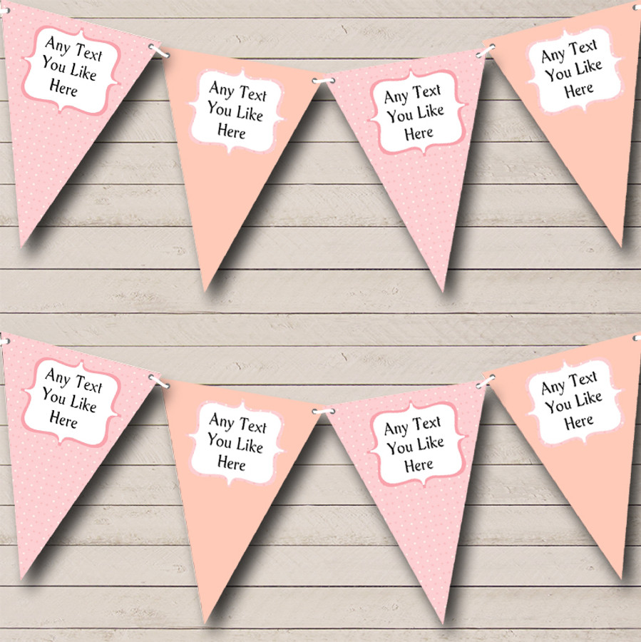 Peach Pink Polkadot Welcome Home New Baby Bunting