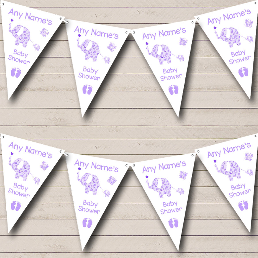 Cute Elephants Lilac Welcome Home New Baby Bunting