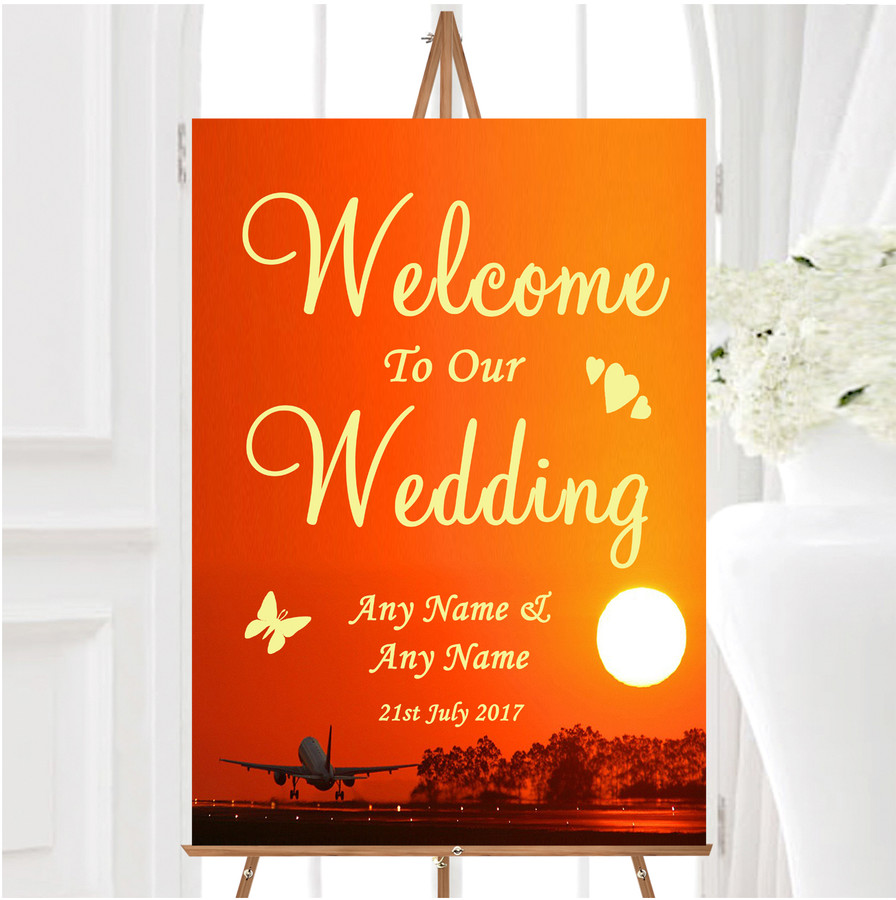 New York Personalised Any Wording Welcome To Our Wedding Sign