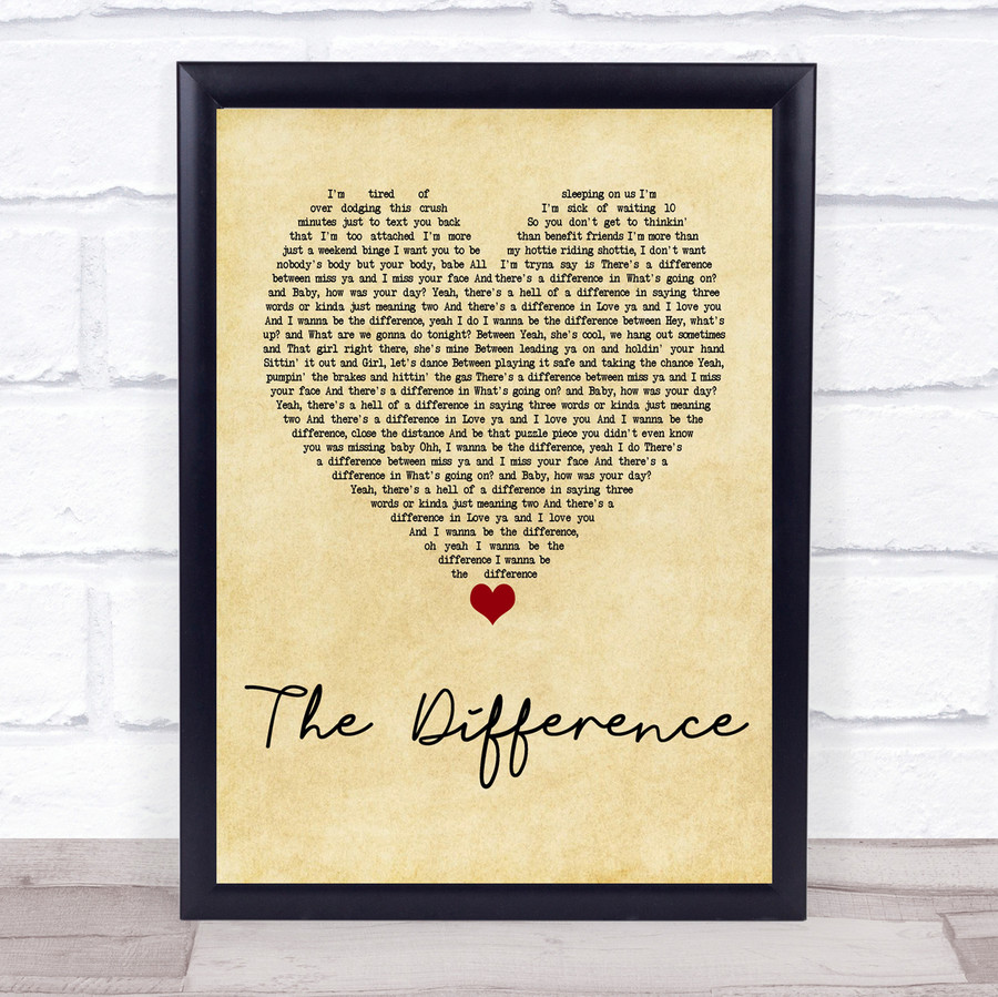 Tyler Rich The Difference Vintage Heart Quote Song Lyric Print