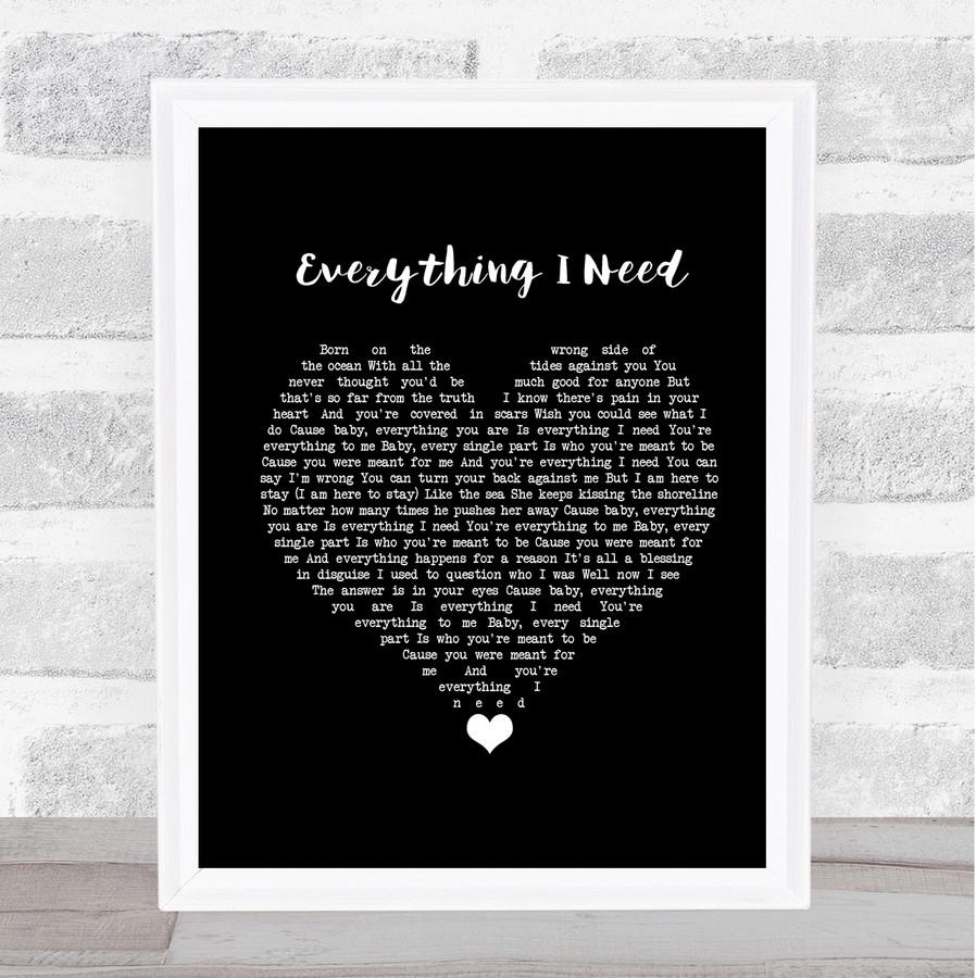 Skylar Grey Everything I Need Black Heart Music Gift Poster Print