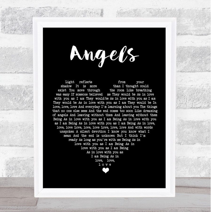 The xx Angels Black Heart Music Gift Poster Print