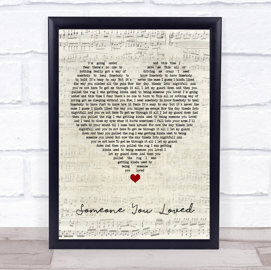 Lewis Capaldi Someone You Loved Script Heart Music Gift Poster Print