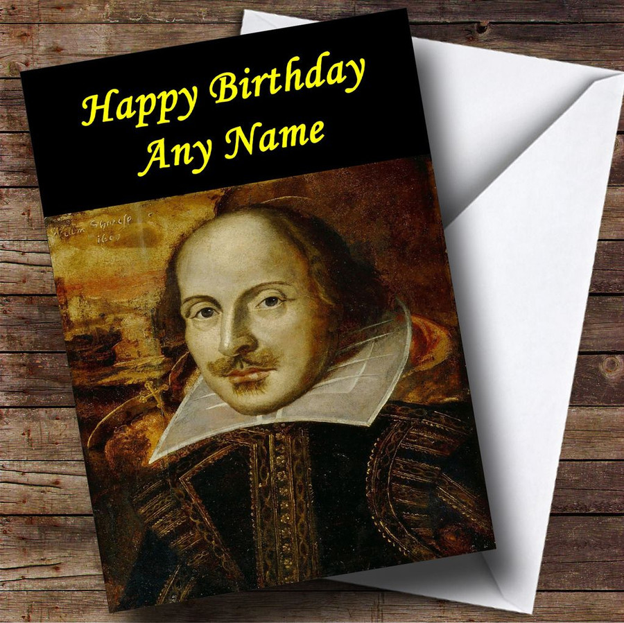 William Shakespeare Customised Birthday Card