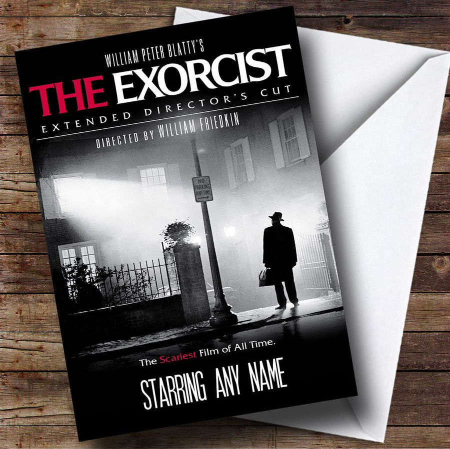 Spoof The Exorcist Movie Film Poster Customised Birthday Card