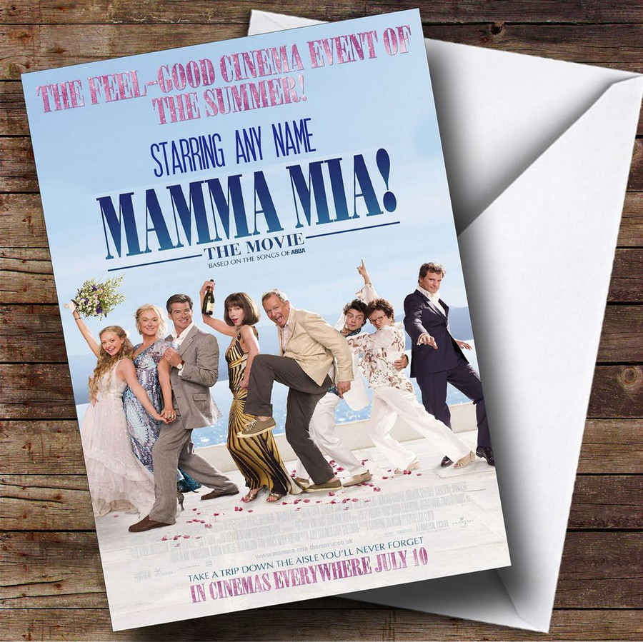 Spoof Mama Mia Movie Film Poster Customised Birthday Card