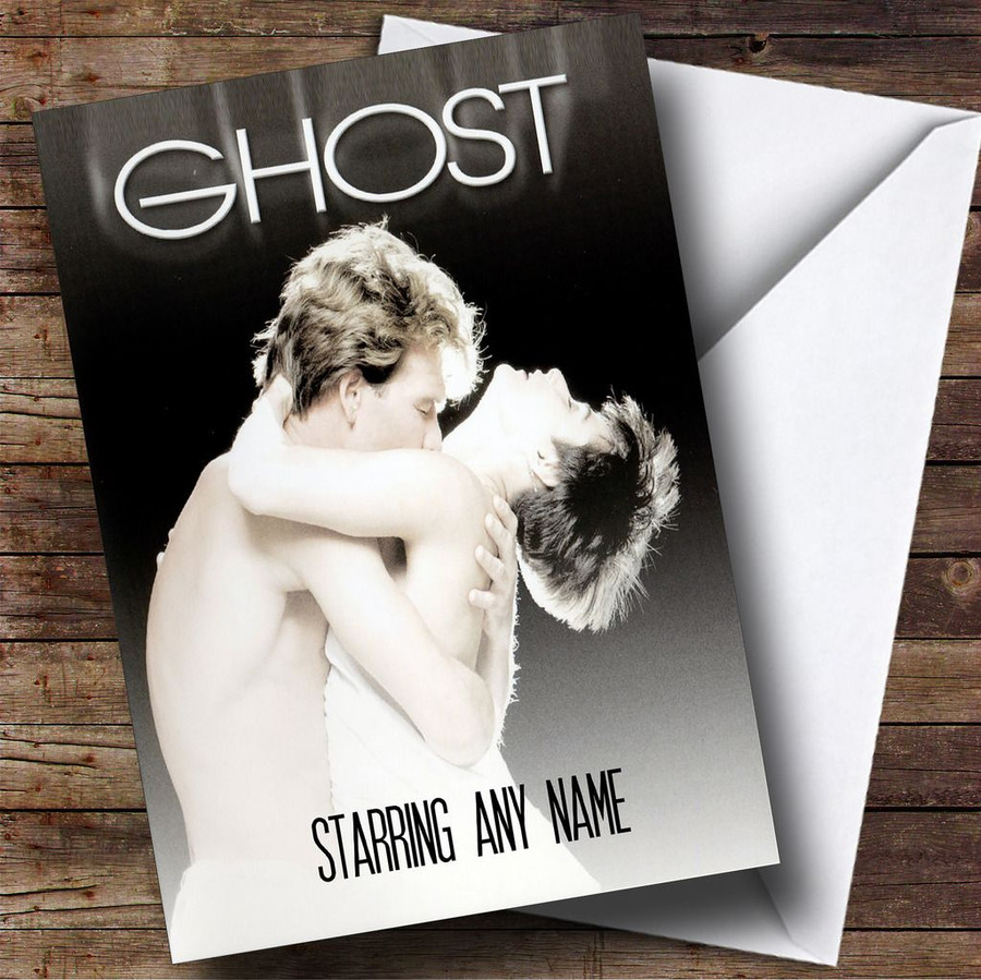 Spoof Ghost Movie Film Poster Customised Birthday Card