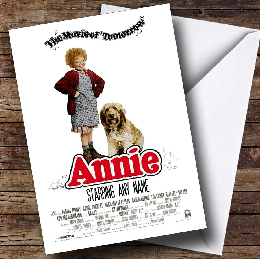 Spoof Annie Movie Film Poster Customised Birthday Card
