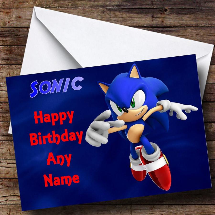 Sonic The Hedgehog Customised Birthday Card