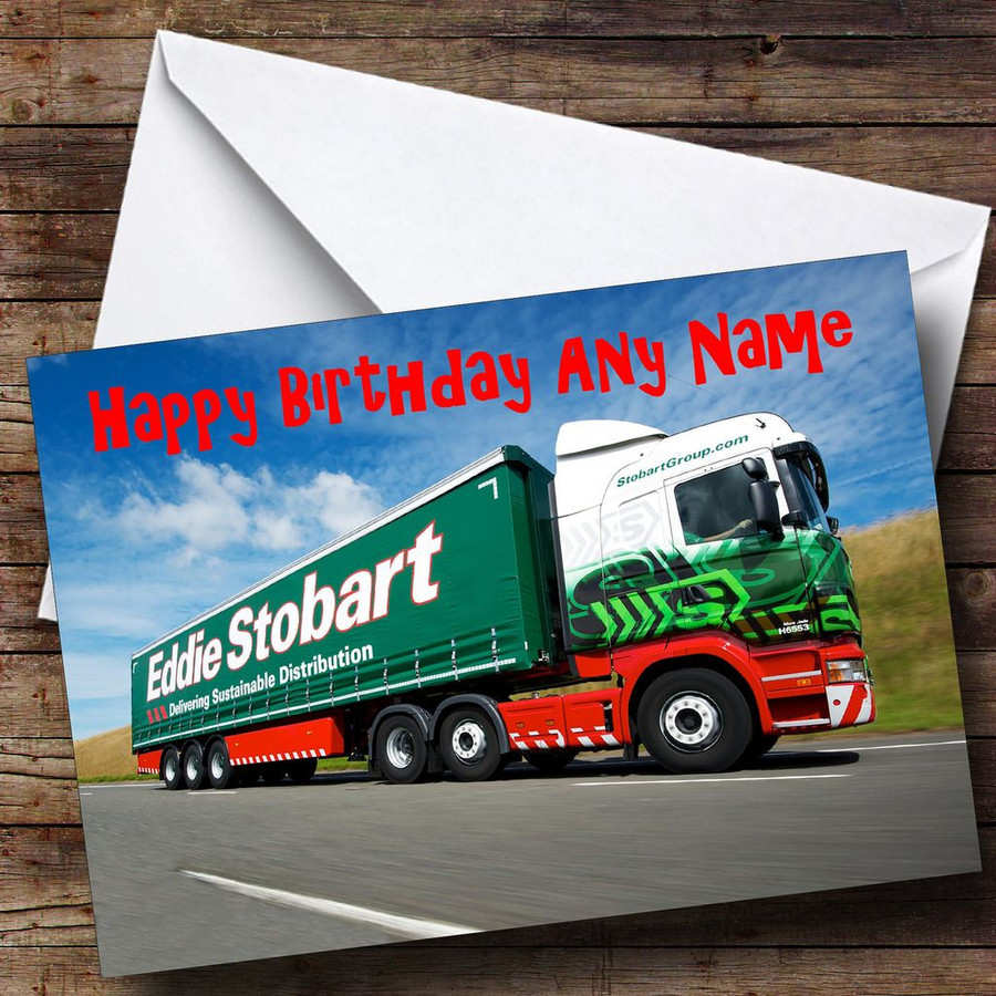 Eddie Stobart Lorry Customised Birthday Card