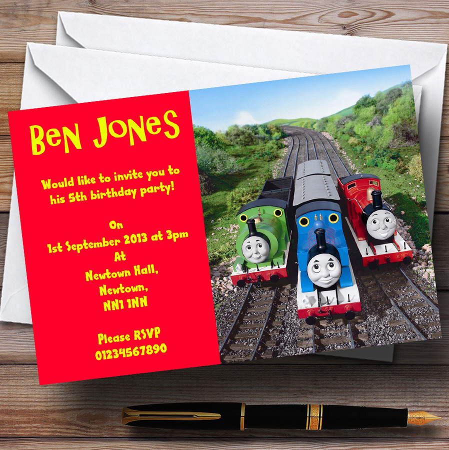 Thomas The Tank & Friends Customised Children's Party Invitations